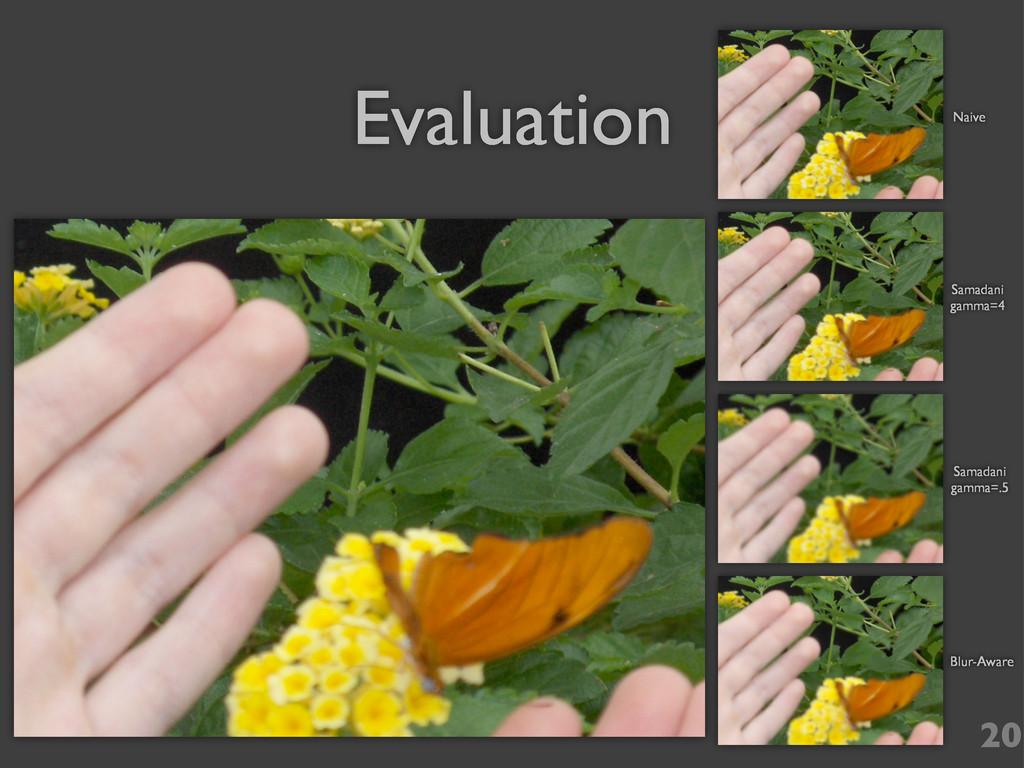 Evaluation Naive Samadani gamma=4 Samadani gamm...
