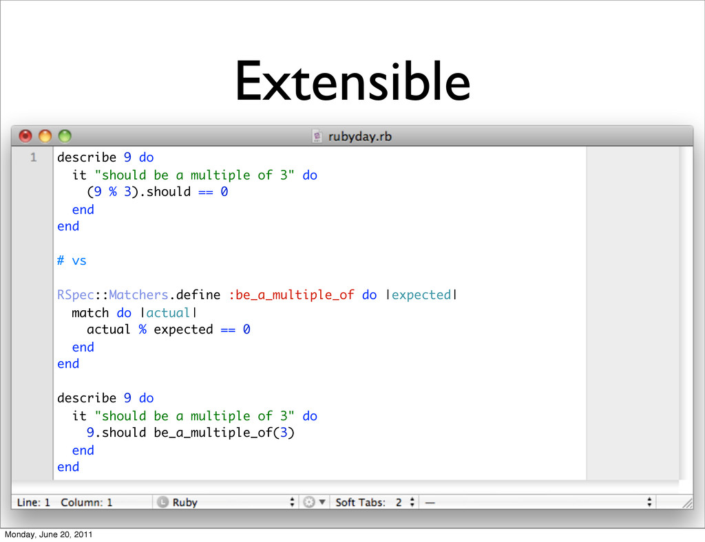 "Extensible describe 9 do it ""should be a multip..."
