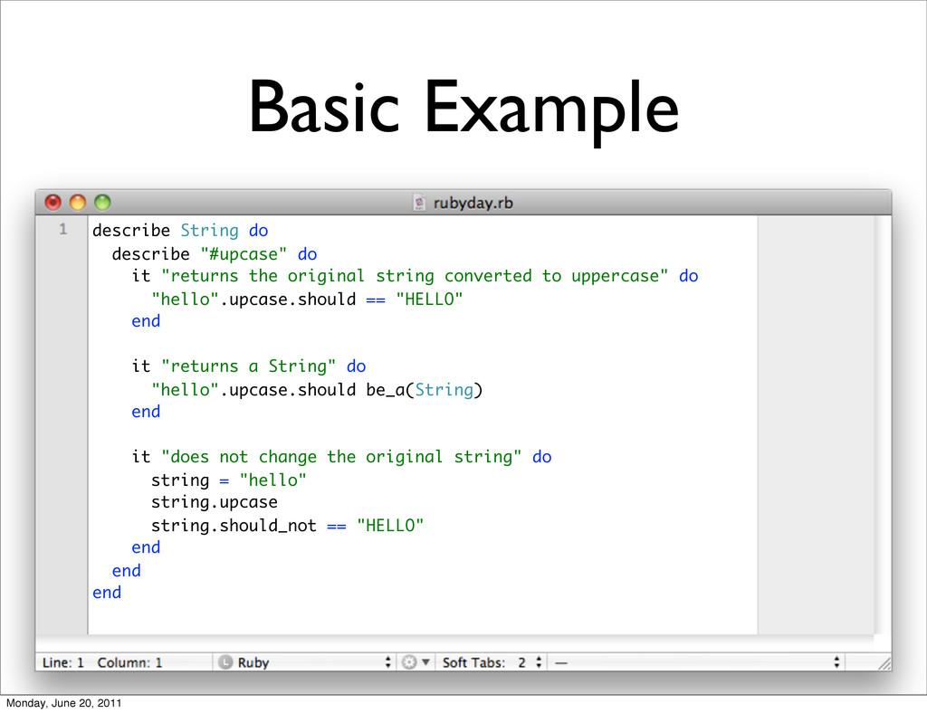 """Basic Example describe String do describe """"#upc..."""