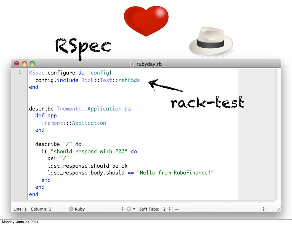 RSpec RSpec.configure do |config| config.includ...