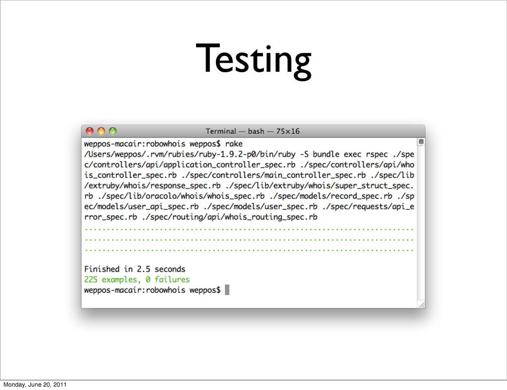 Testing Monday, June 20, 2011