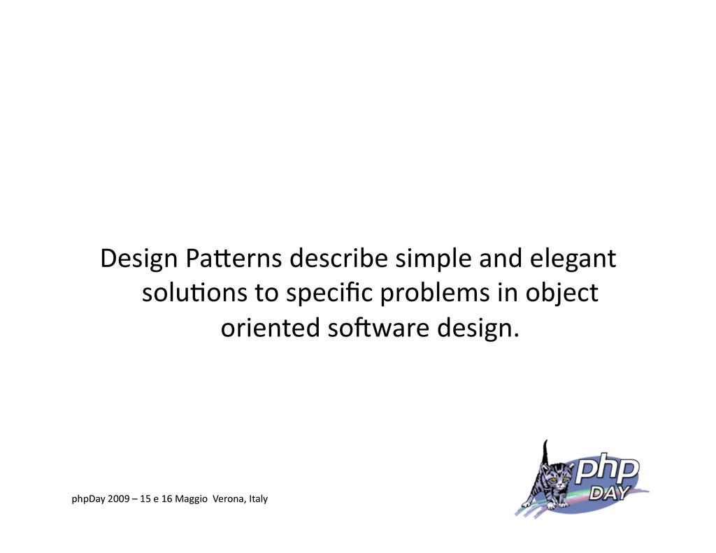 Design PaVerns describe simple and elegant solu...