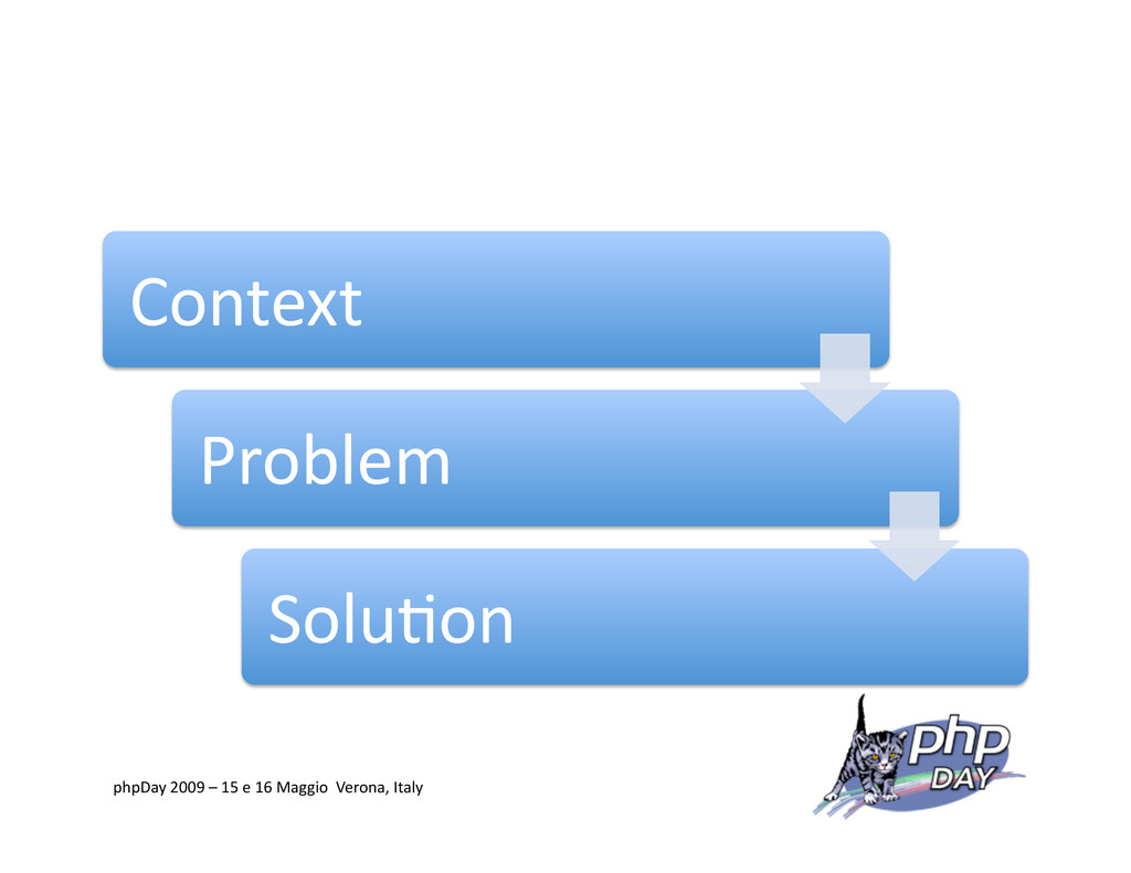 Context Problem Solu=on phpDay 2009 – 15 e 16 M...
