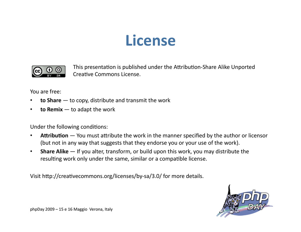 License This presenta=on is published under the...