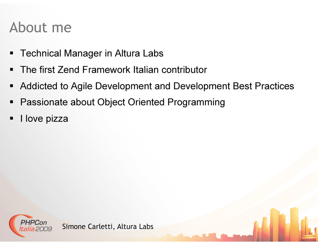 About me   Technical Manager in Altura Labs  ...