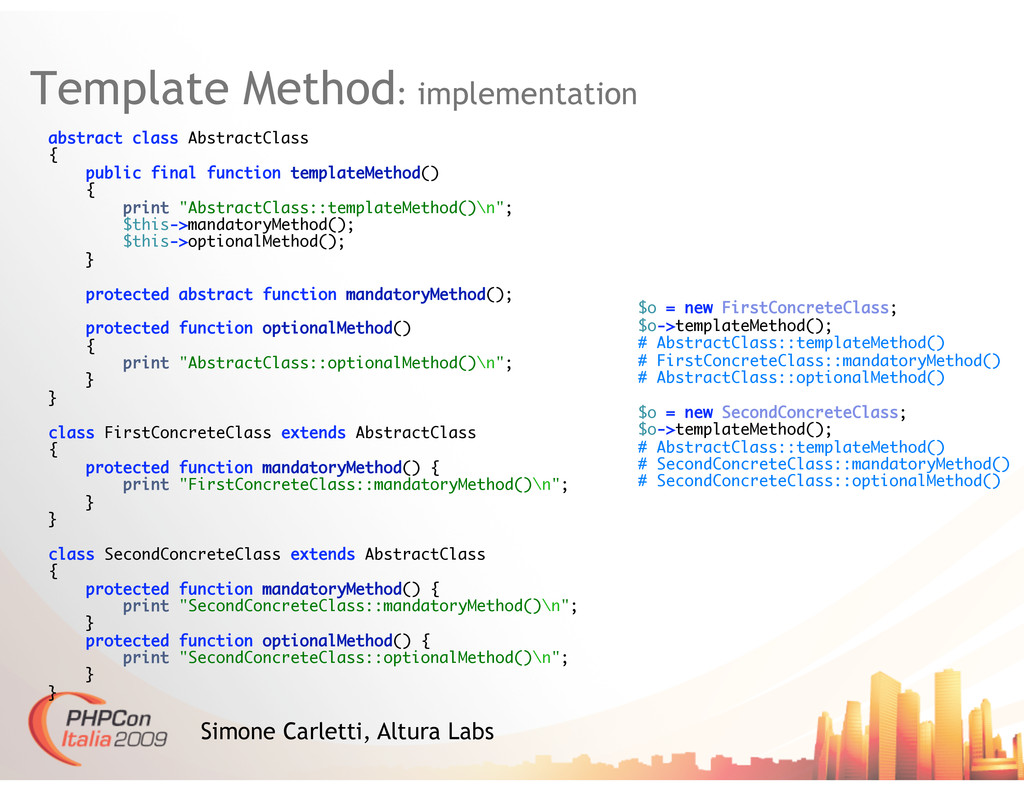 Template Method: implementation Simone Carletti...