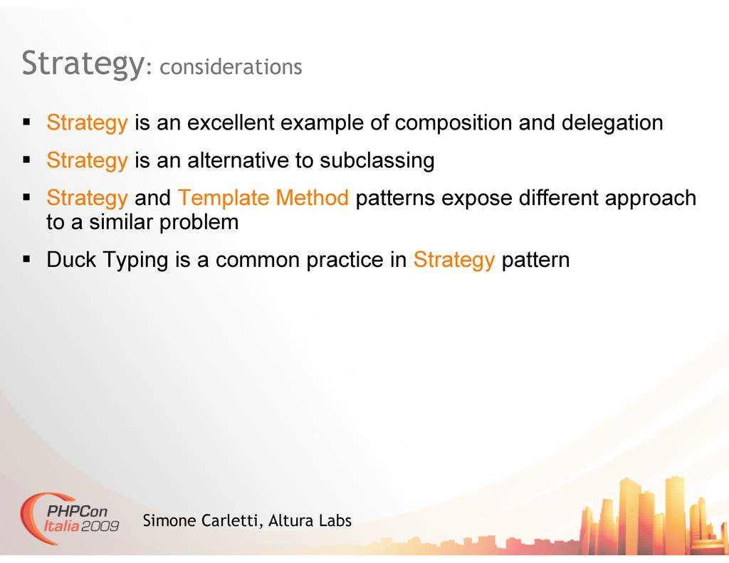 Strategy: considerations Simone Carletti, Altur...