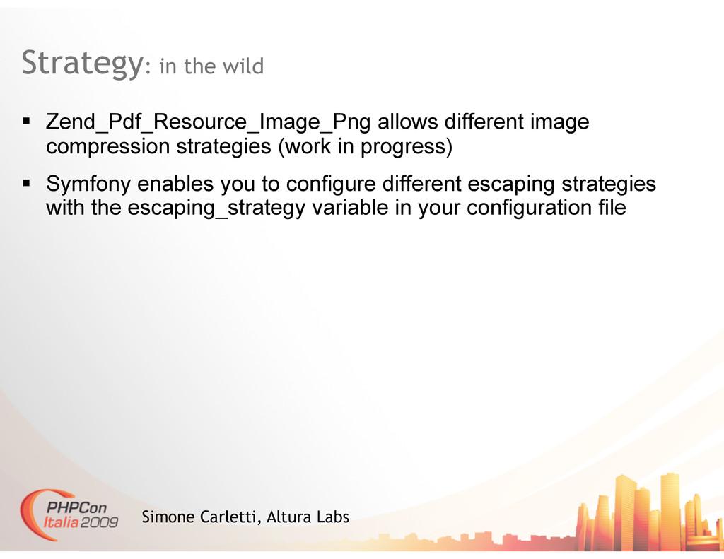 Strategy: in the wild Simone Carletti, Altura L...