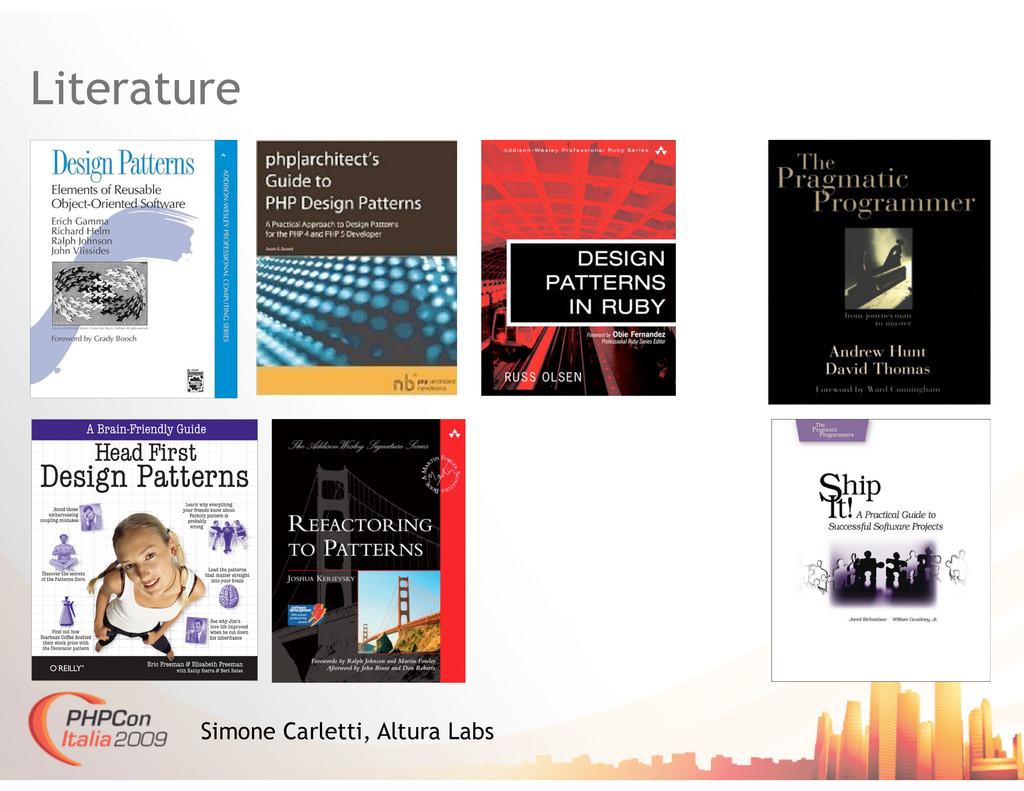 Literature Simone Carletti, Altura Labs