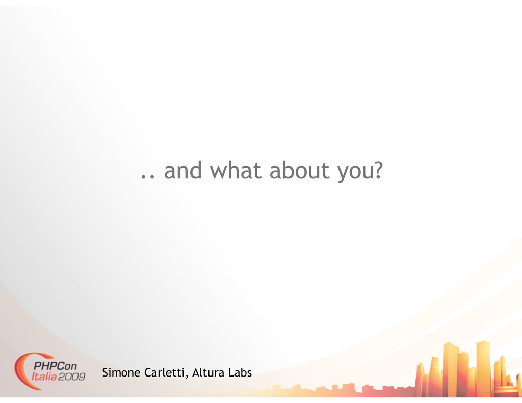 .. and what about you? Simone Carletti, Altura ...