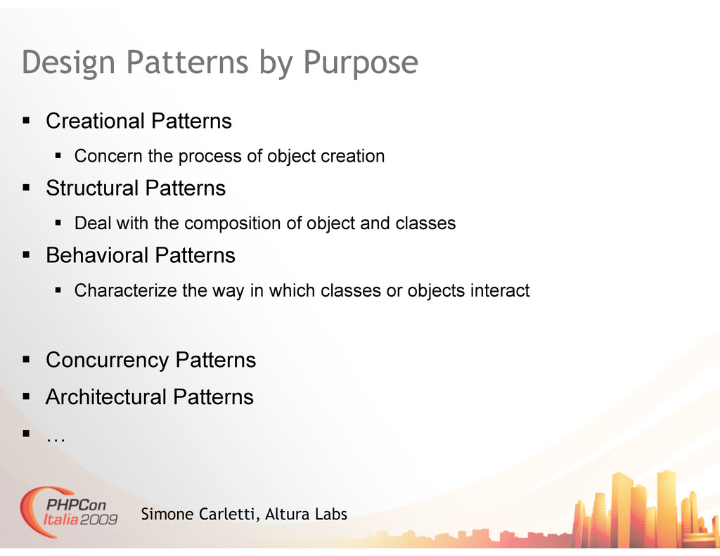 Design Patterns by Purpose   Creational Patter...