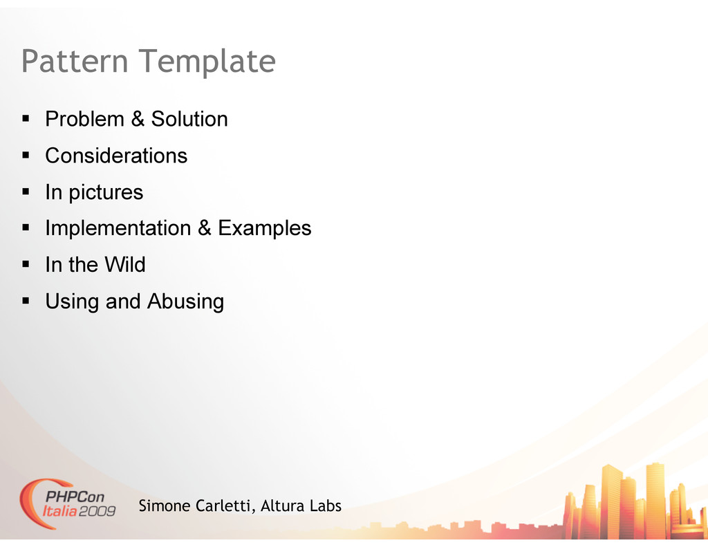 Pattern Template   Problem & Solution   Consi...