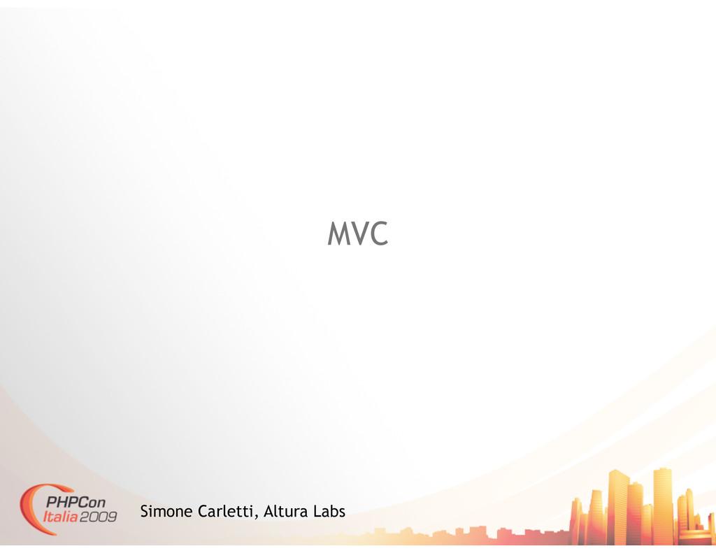 MVC Simone Carletti, Altura Labs