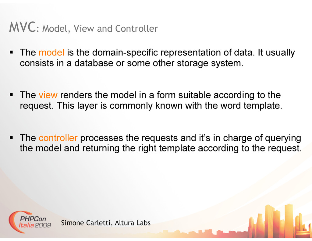 MVC: Model, View and Controller Simone Carletti...