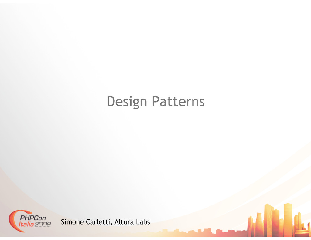 Design Patterns Simone Carletti, Altura Labs