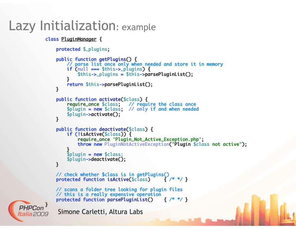 Lazy Initialization: example Simone Carletti, A...