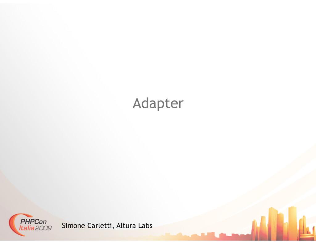 Adapter Simone Carletti, Altura Labs