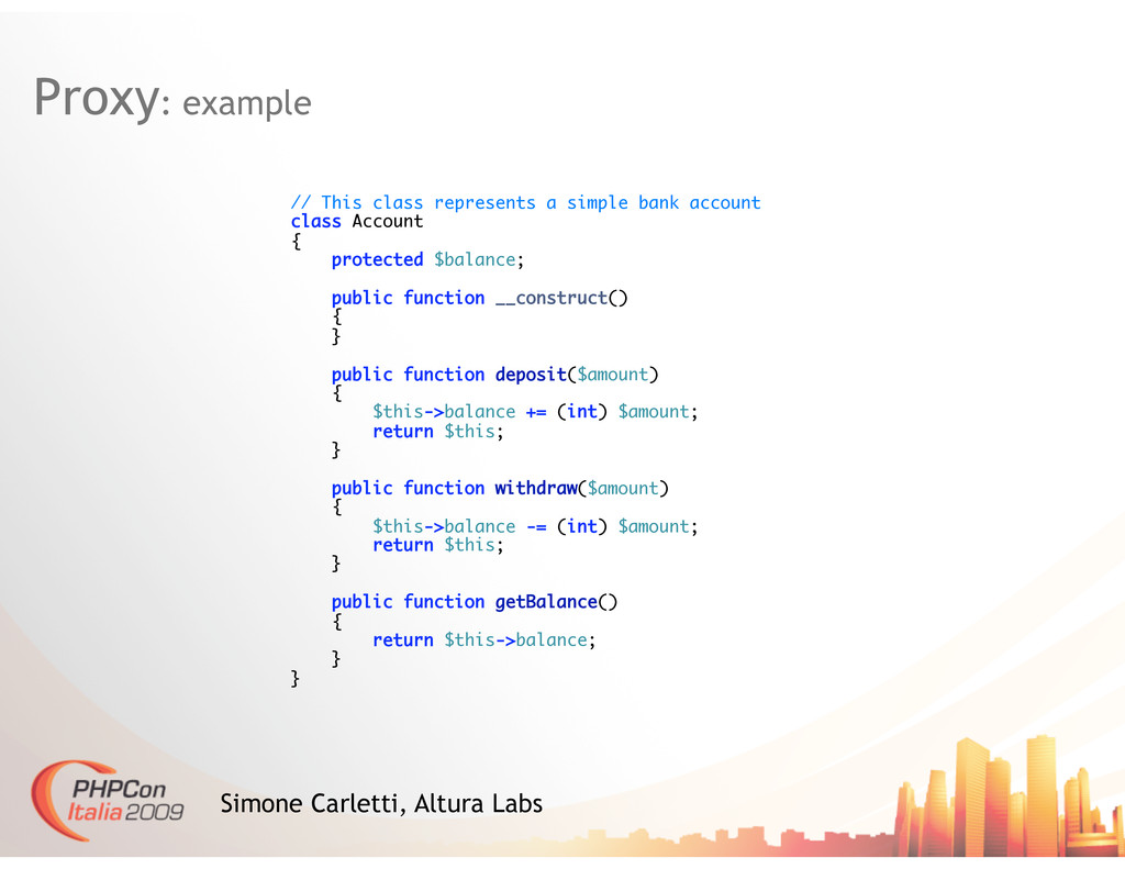 Proxy: example Simone Carletti, Altura Labs // ...