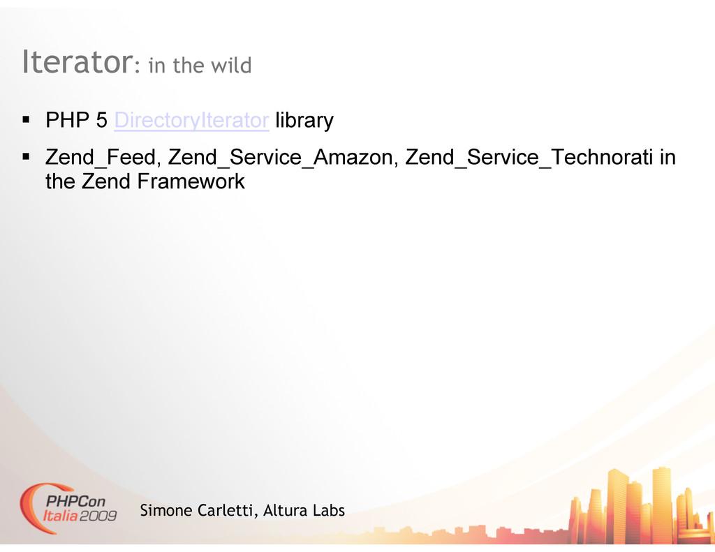 Iterator: in the wild Simone Carletti, Altura L...