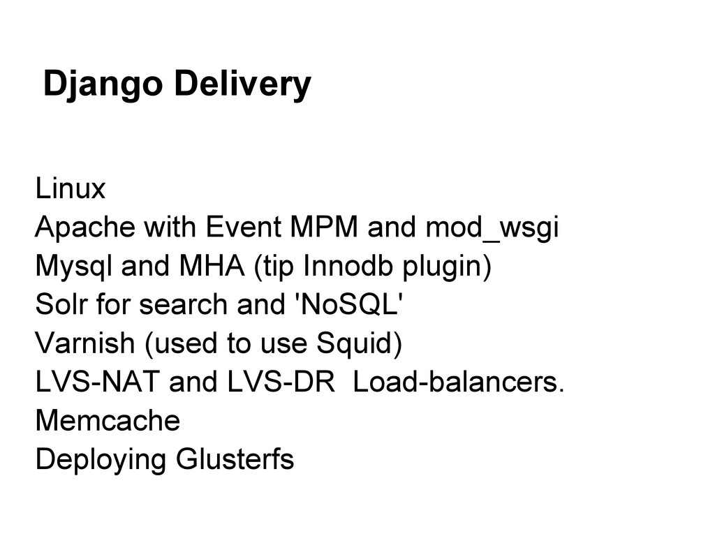 Django Delivery Linux Apache with Event MPM and...