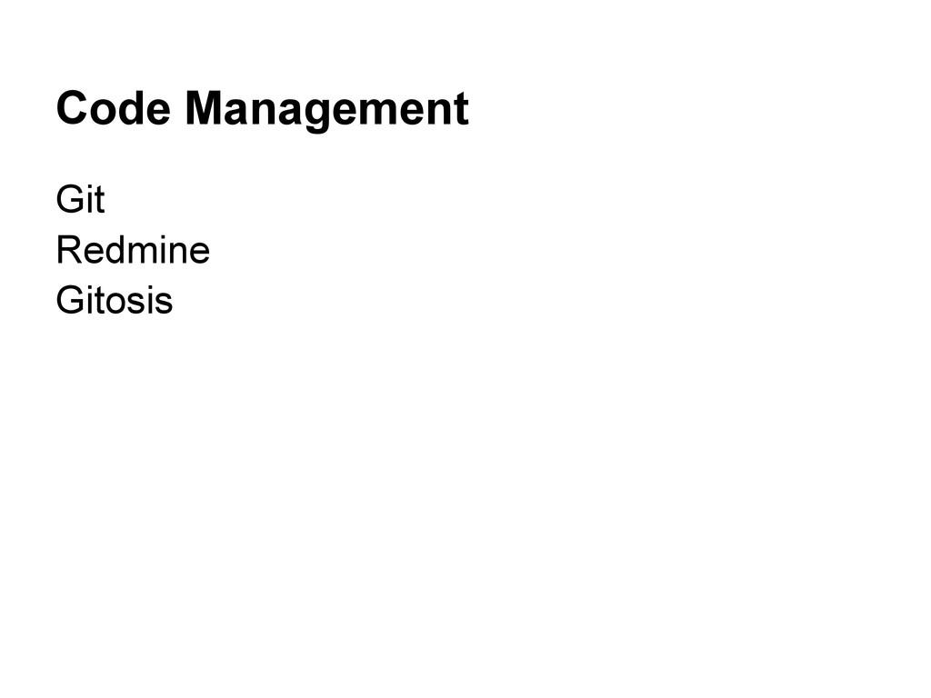 Code Management Git Redmine Gitosis