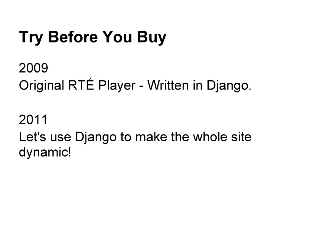 Try Before You Buy 2009 Original RTÉ Player - W...