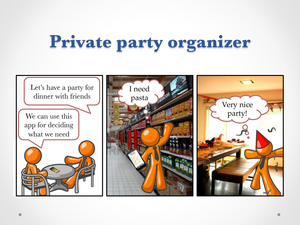 Private party organizer 