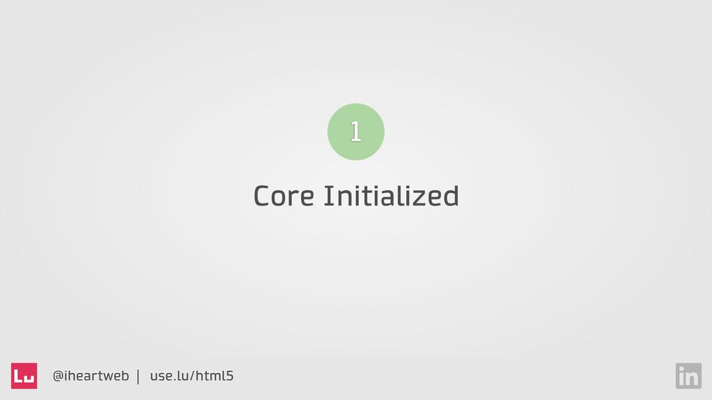 @iheartweb | use.lu/html5 Core Initialized 1