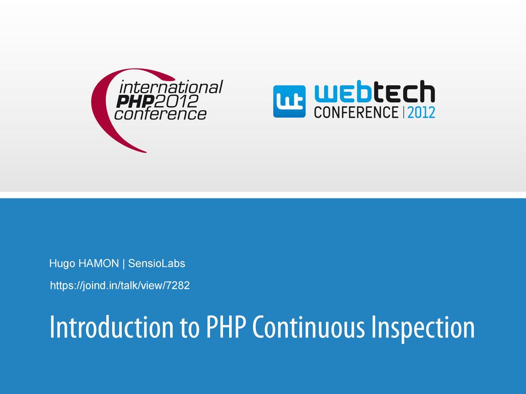 Hugo HAMON | SensioLabs Introduction to PHP Con...