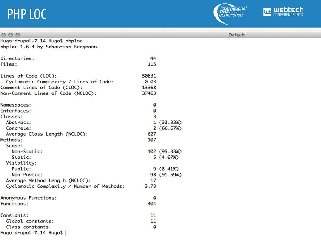 PHP LOC
