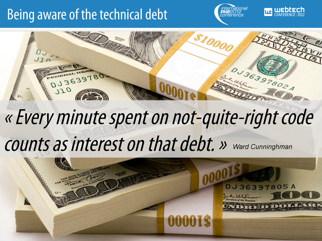 Being aware of the technical debt « Every minut...
