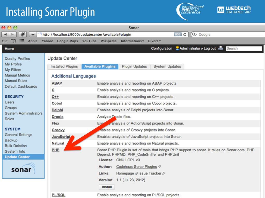 Installing Sonar Plugin