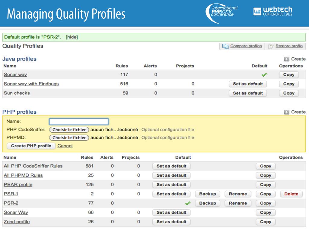 Managing Quality Pro les