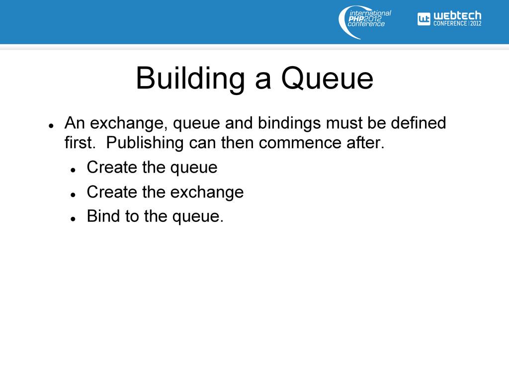 l An exchange, queue and bindings must be def...