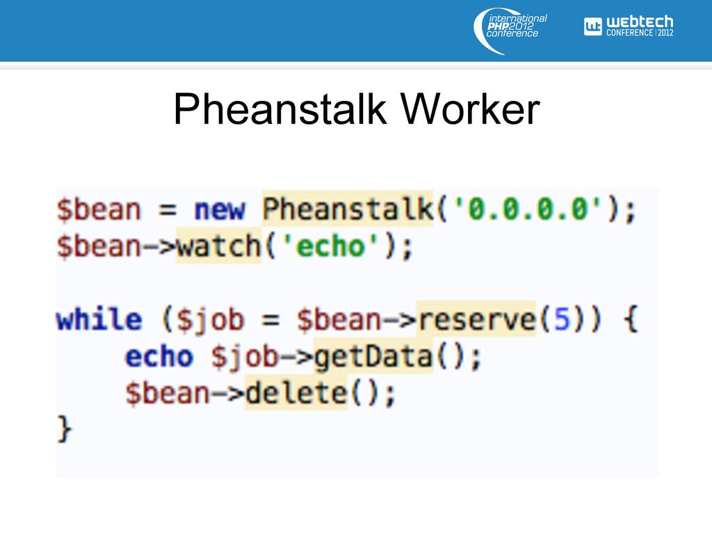 Pheanstalk Worker