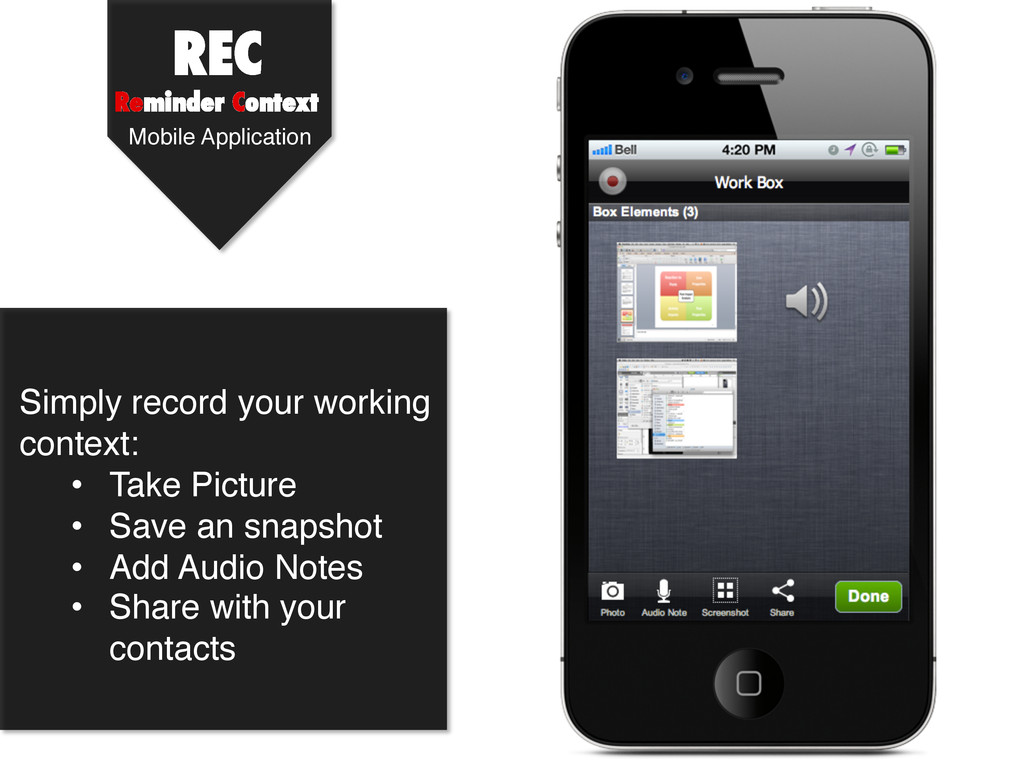 REC Reminder Context ! Simply record your worki...