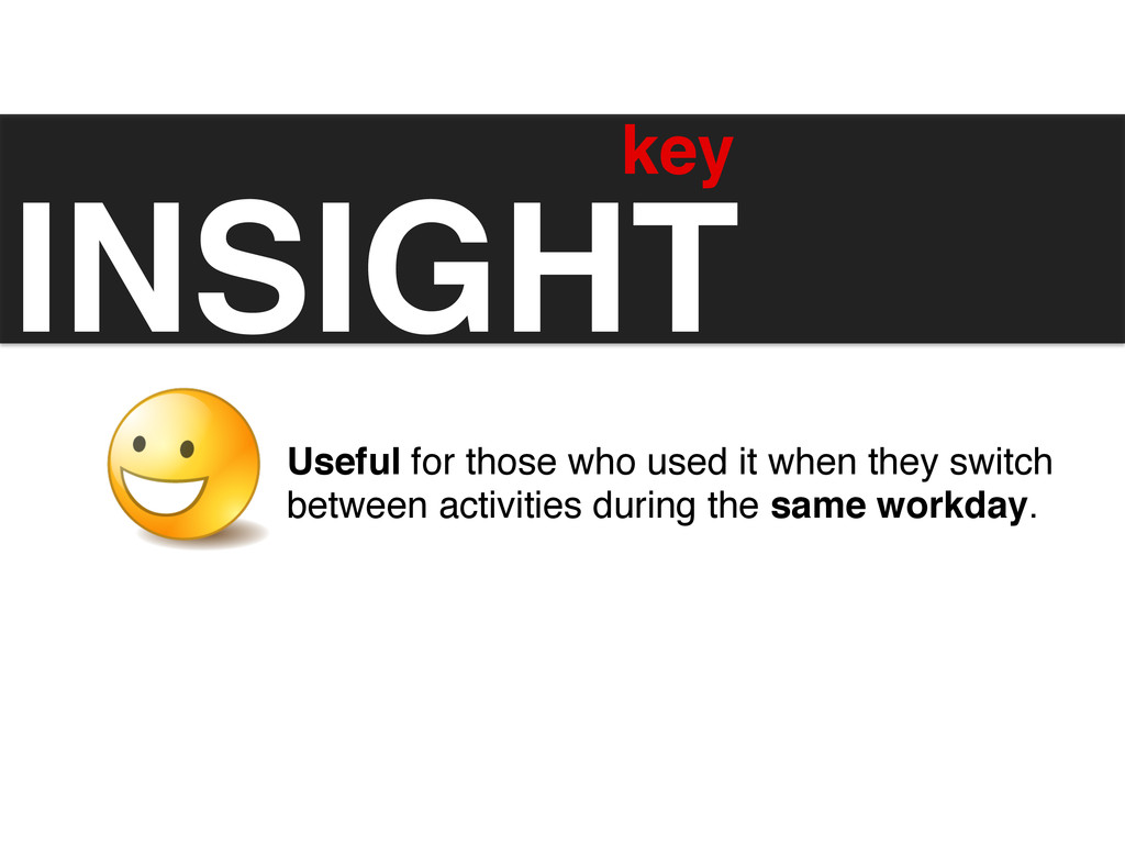 INSIGHT! key	