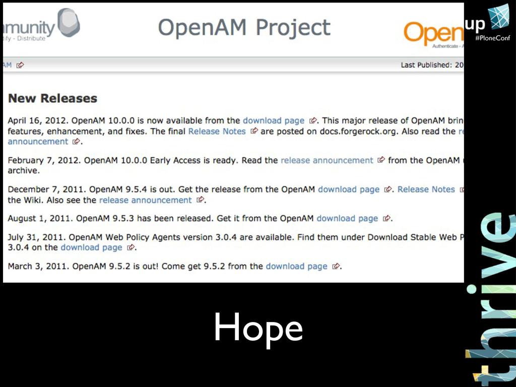 #PloneConf Hope