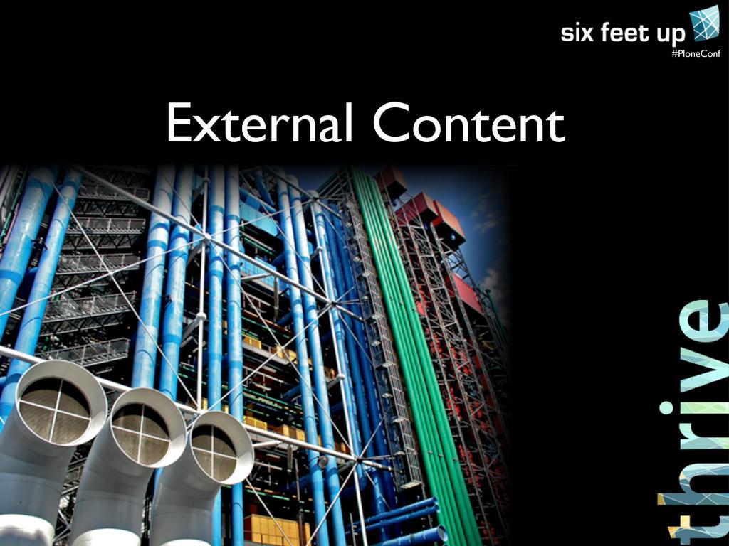 #PloneConf External Content