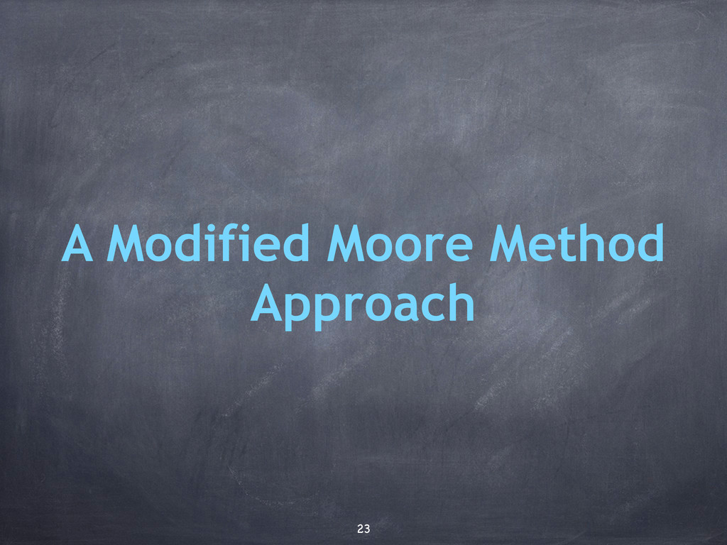 A Modified Moore Method Approach 23
