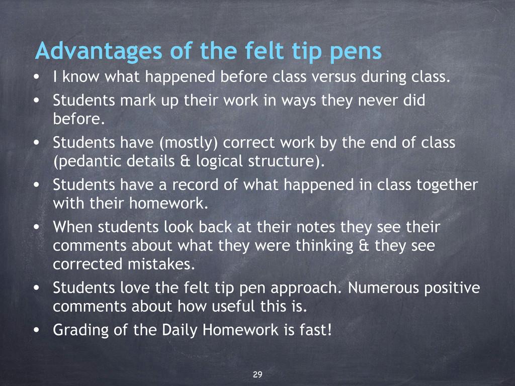 Advantages of the felt tip pens • I know what h...