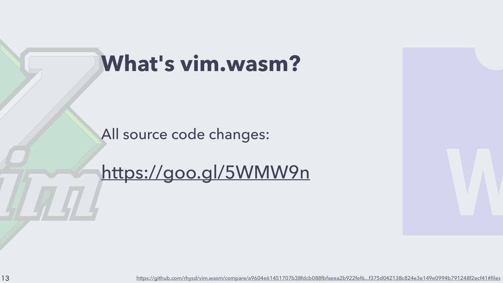What's vim.wasm? All source code changes: https...