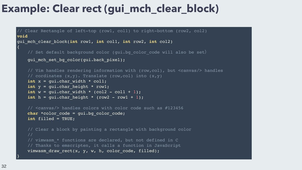 Example: Clear rect (gui_mch_clear_block) // Cl...