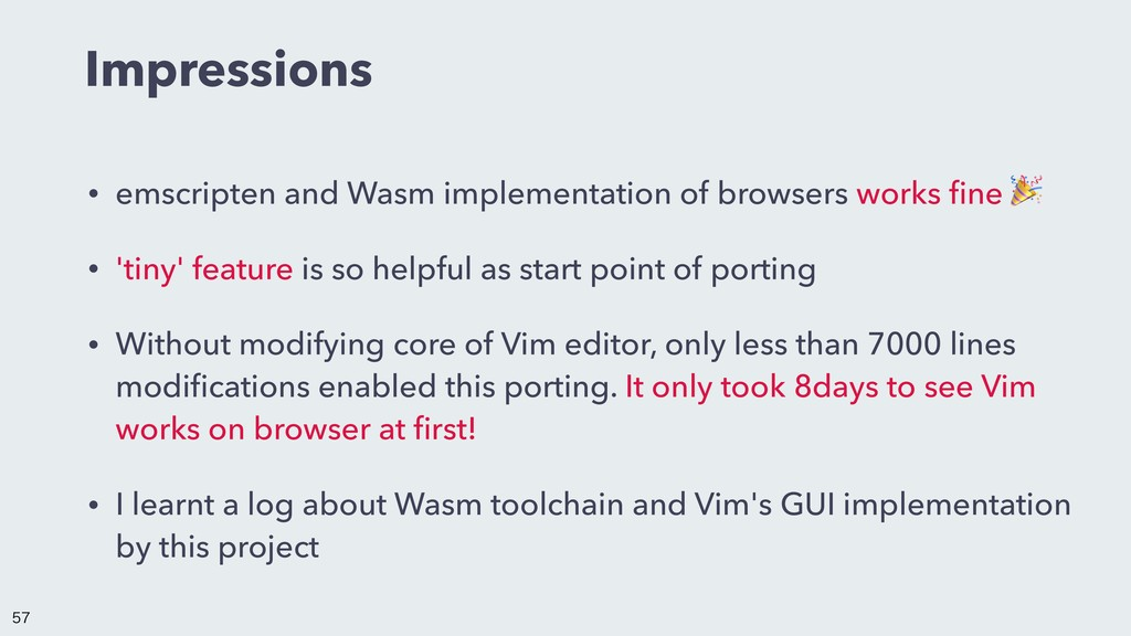 Impressions • emscripten and Wasm implementatio...