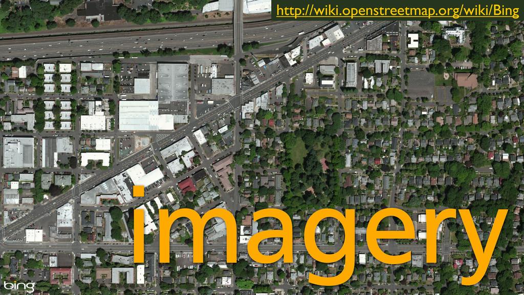 imagery http://wiki.openstreetmap.org/wiki/Bing