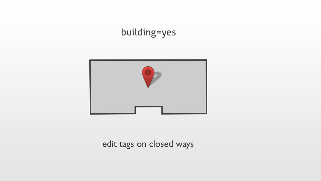 building=yes edit tags on closed ways