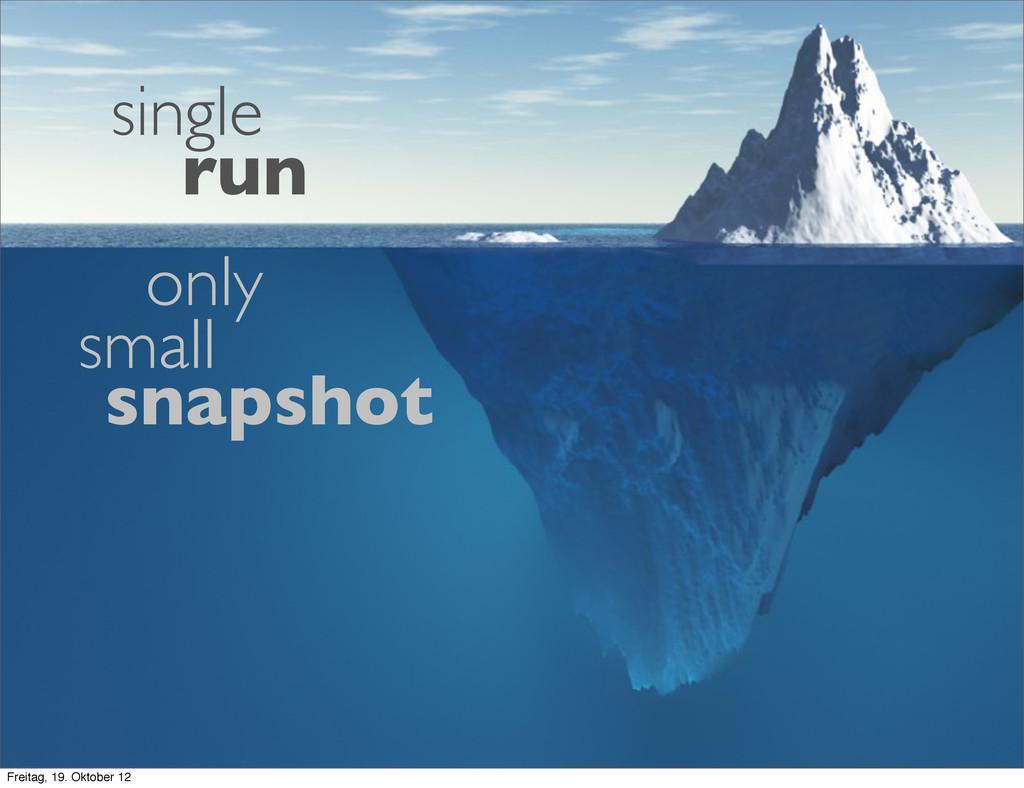 snapshot single run only small Freitag, 19. Okt...