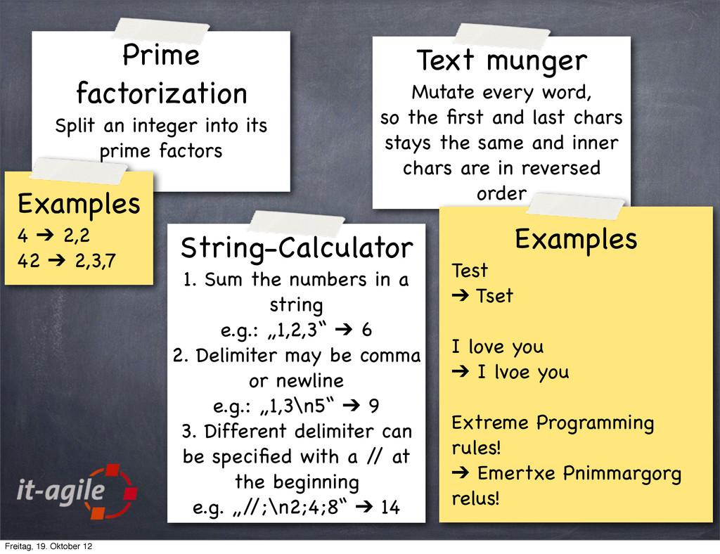 Prime factorization Split an integer into its p...
