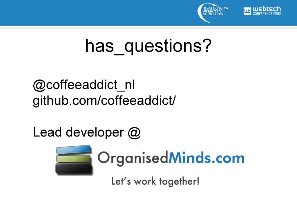 @coffeeaddict_nl github.com/coffeeaddict/ Lead ...