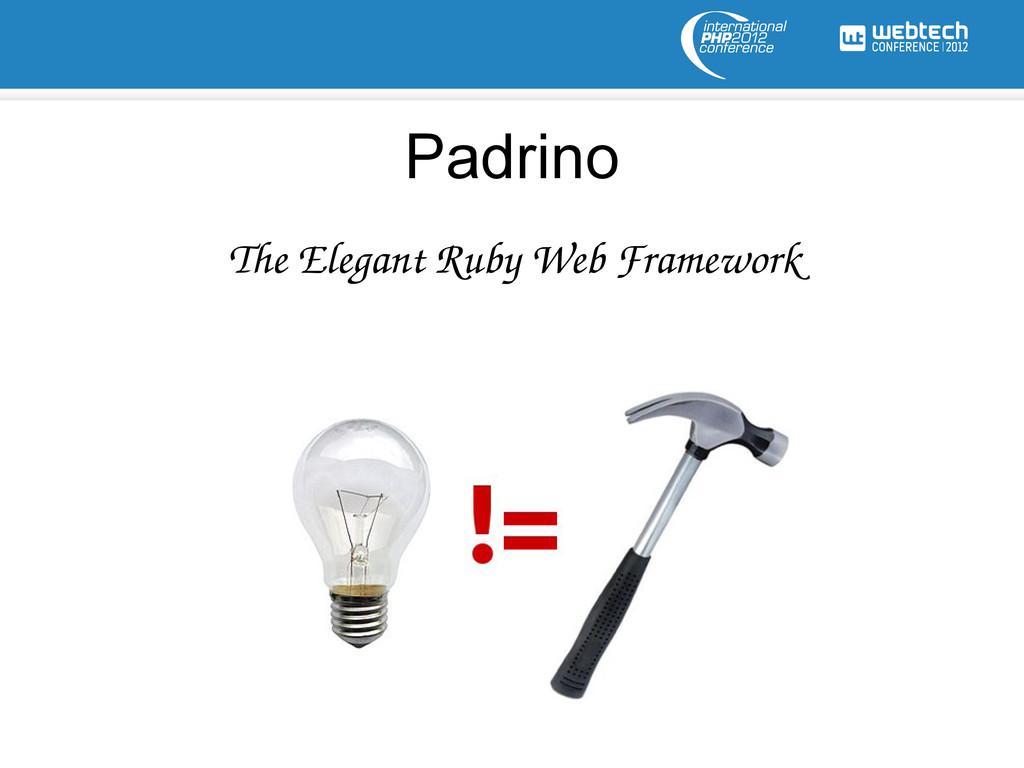 Padrino The Elegant Ruby Web Framework